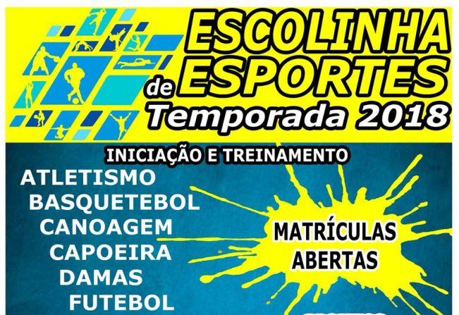 cbffa1f184 Notícia - Escolinhas de Esportes estão com matrículas abertas em ...